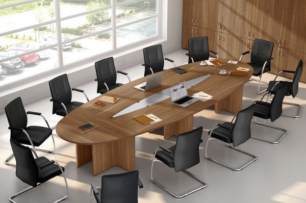 Mobilier de bureau - Casablanca - Maroc - TABLE DE REUNION OVALE COMPOSABLE 15 PERSONNES