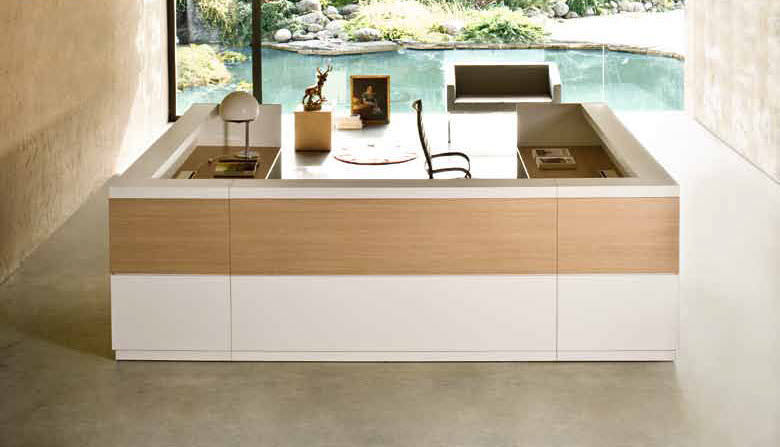 Contemporary reception desk / modular / desk / for public buildings